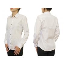 Biała koszula damska SLIM długi rękaw LAVIINO