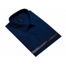GRANATOWA koszula męska z krótkim rękawem duże rozmiary