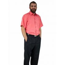 Koszula męska KORALOWA z krótkim rękawem BAWEŁNA