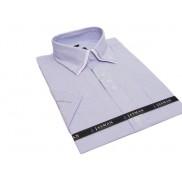 Button down. Koszula męska z podwójnym kołnierzykiem biała w niebieskie paski