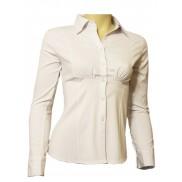 Elegancka koszula damska slim fit biała długi rękaw