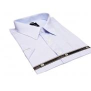 LAVIINO Koszula męska BŁĘKITNA duże rozmiary