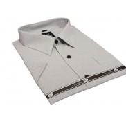 Duża koszula męska krótki rękaw GRAFITOWA