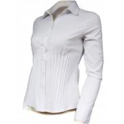 Biała koszula damska slim fit elegancka z zaszewkami