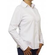 DUŻA elegancka koszula damska biała z długim rękawem