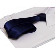 Granatowy śledź krawat LAVIINO
