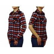 Damska koszula flanelowa SLIM w kratkę