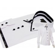 Biała koszula męska Slim Fit kołnierzyk button down Boston Public