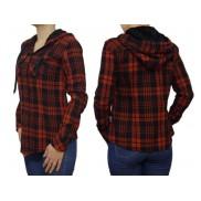 Damska koszula flanelowa czerwono-czarna KAPTUR