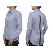 Damska koszula SLIM FIT niebieska ZAMEK