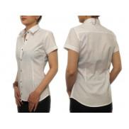Biała koszula damska SLIM krótki rękaw