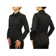 Czarna koszula damska SLIM