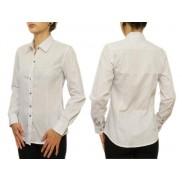 Biała koszula damska SLIM w kropki