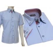 Koszula męska SLIM FIT niebieska BUTTON DOWN
