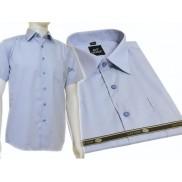 Elegancka koszula męska NIEBIESKA jasna bawełna