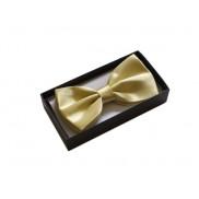 Elegancka mucha do koszuli męskiej żółto-złoty
