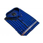DUŻA koszula męska niebieska kratka