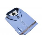 DUŻA koszula męska kolor niebieski indygo