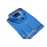 DUŻA koszula męska kolor ciemno niebieski