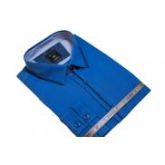 DUŻA koszula męska w kolorze chabrowym