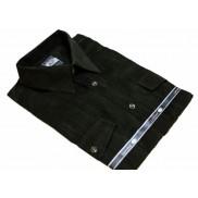 Koszula męska sztruksowa ciemnozielona