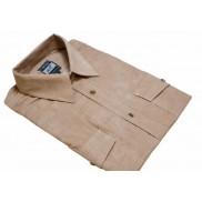 Koszula męska sztruksowa beżowa