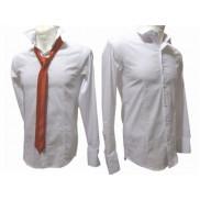 Koszula męska Slim-Fit JAPAN STYLE BIAŁA DOPASOWANA
