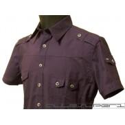 Koszula męska TALIOWANA fioletowa 100% BAWEŁNA