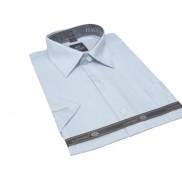 Elegancka koszula męska z krótkim rękawem blado niebieska