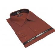 DUŻA ponadwymiarowa koszula męska czerwona w drobne paski