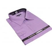 DUŻA koszula męska fioletowa wrzosowa w drobne paski