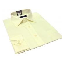 Koszula męska ECRU-KREMOWA klasyczna mankiet na spinki lub guzik Fazzini