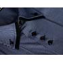 Elegancka koszula męska z podwójnym kołnierzykiem SLIM FIT GRANATOWA w prążki