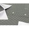 Koszula męska TALIOWANA z białym kołnierzykiem biała w czarne paski