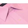 Wizytowa koszula męska na spinki lub guzik różowa w paski