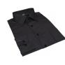Koszula męska Slim Fit CZARNA w paski z mankietem na spinki lub guzik
