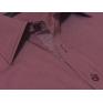 Wizytowa koszula męska na spinki lub guzik bordowa w paski