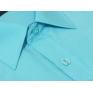 Wizytowa koszula męska TURKUSOWA w jasne paski