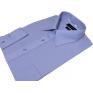 Koszula męska Slim Fit NIEBIESKA INDYGO z mankietem na spinki lub guzik