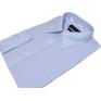 Koszula męska Slim Fit blado NIEBIESKA z mankietem na spinki lub guzik