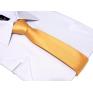 Krawat-ŚLEDŹ MORELOWY jasny perłowy gładki