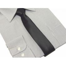 Krawat-Sledź czarny gladki szerokosc 6cm