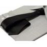 Elegancki krawat śledź czarny gładki wąski 6 cm