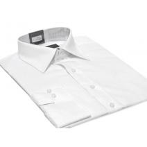 WYPRZEDAZ -41% ! Koszula męska Slim-Fit BIAŁA dlugi rękaw mankiet na spinki lub guzik