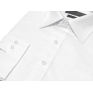 Koszula męska Slim-Fit BIAŁA dlugi rękaw spinki-guzik