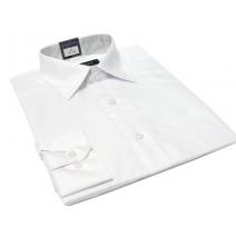 Koszula męska biała gładka klasyczna o kroju regular Fazzini
