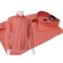 Wizytowa koszula męska koralowa o klasycznym ktoju regular Fazzini.