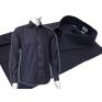 Wizytowa koszula męska GRAFITOWA z mankietem na spinki, lub guzikFazzini