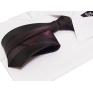 Czarny KRAWAT śledź Japan Style fioletowy żakardowy wzór