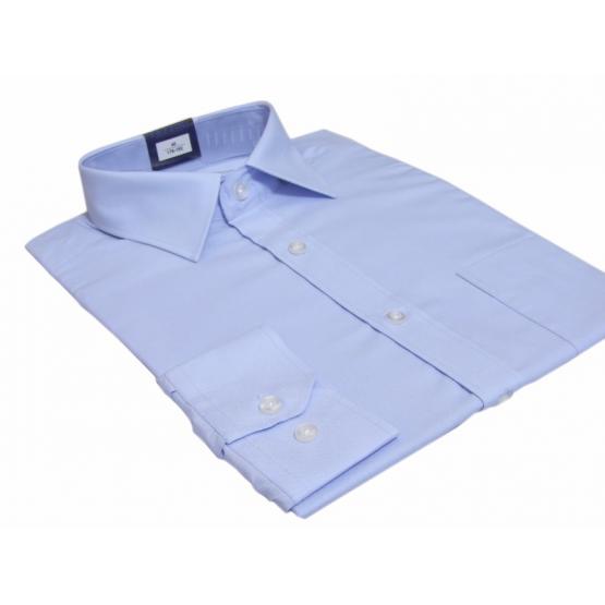 Koszula męska regular BŁĘKITNA Fazzini